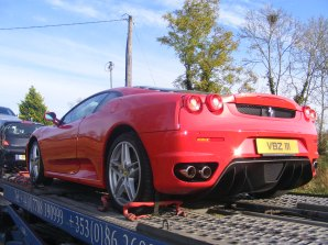 Car Transport Ireland - Oh my a Ferrari!